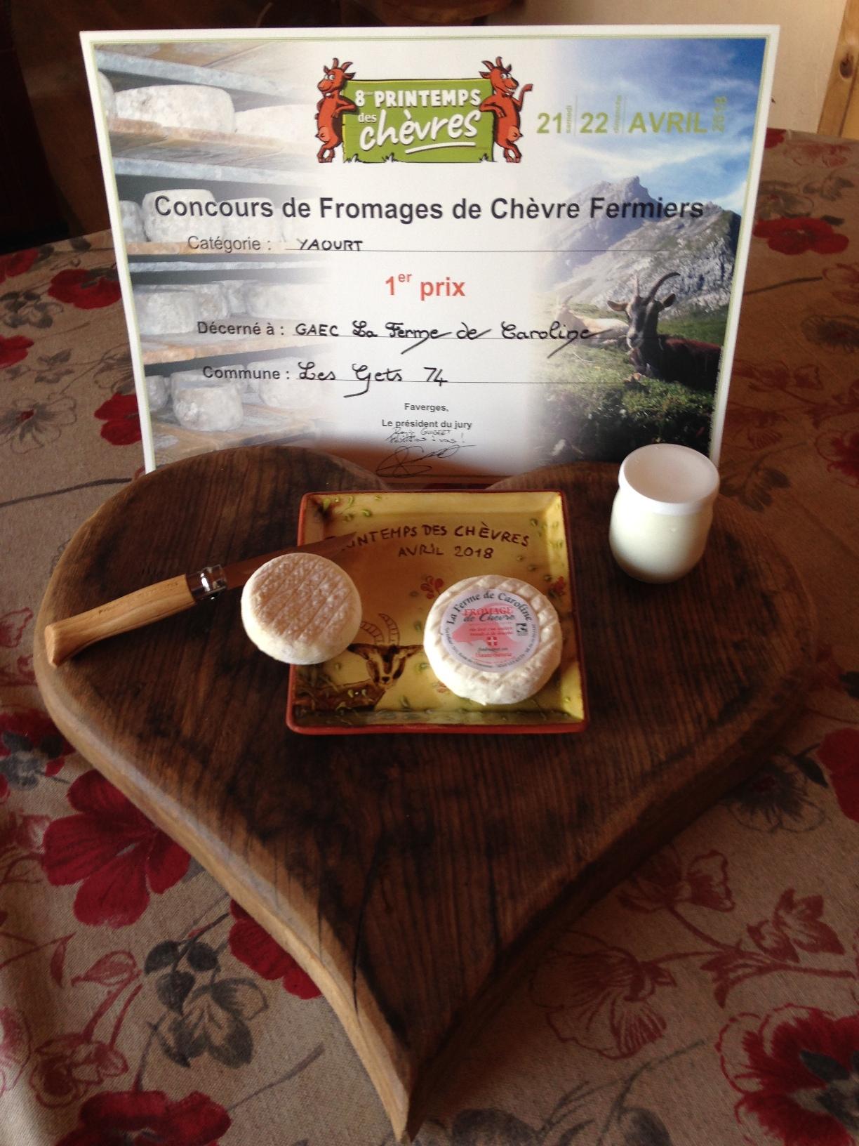 Concours fromages de chèvres 2018